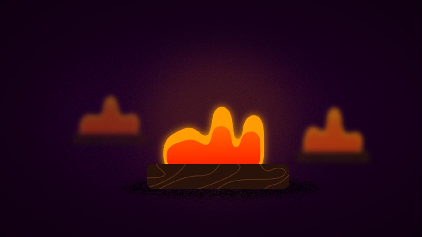 آموزش انیمیت آتش موشن گرافیک با Wiggle در افترافکت