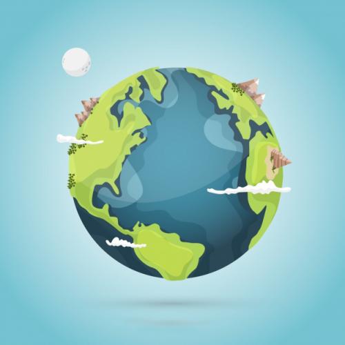 آموزش انیمیت چرخش زمین و ستاره در افترافکت 23