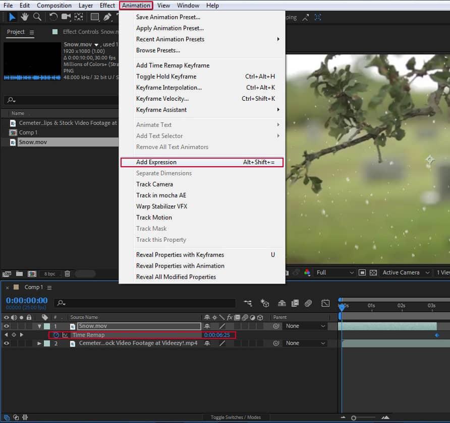 استفاده از اکسپرشن برای اضافه کردن زمان ویدئو 2